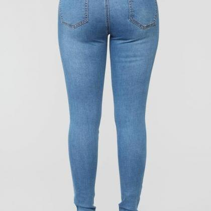 Sexy High Waist Stretch Denim Pants