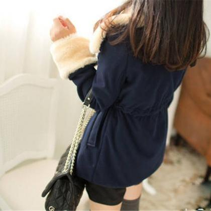 Breasted Wool Coat Winter Jacket VG..