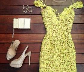 Hollow Out Lace Dres..
