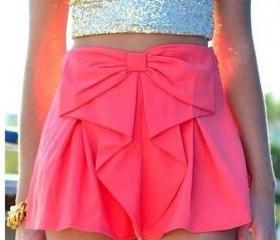 Bow Waist Shorts Cut..