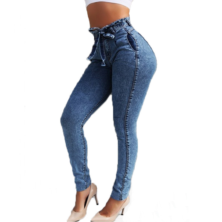 Women Slim Stretch High Waist Jeans
