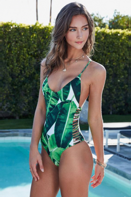 Sexy Printed One Piece Swimwear