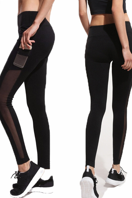 Solid Color Black Trousers