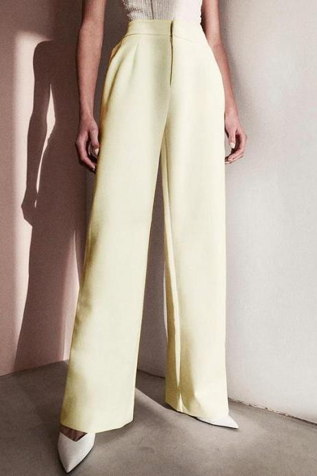 Fashion Solid Color Zipper Slim Pants