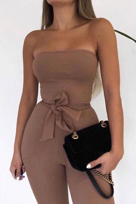 Sexy Sleeveless Open Back Jumpsuit