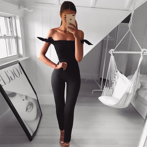 2018 Sexy Black High Waist Jumpsuit