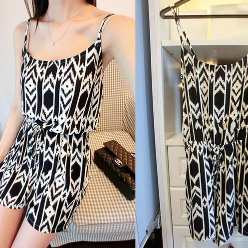 Big yards loose strap jumpsuit WE21001OP
