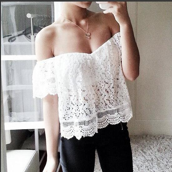 Fashion Lace Blouse VG41310MN