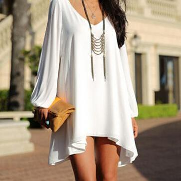 Fashion Loose V-Neck Dress