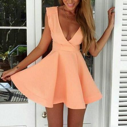 Sweet Sleeveless Pink Dress